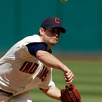 Cleveland Indians starting pitcher Mitch Talbot delievers in the first inning in a baseball game against the Minnesota Twins, Sunday, Sept. 12, 2010, in Cleveland. (AP Photo/Tony Dejak)