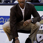 Cleveland cavaliers coach Byron Scott yells from courtside during the first half of the NBA preseason basketball game on the University of Pittsburgh campus, Thursday, Oct. 14, 2010, in Pitt ...
