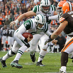New York Jets quarterback Mark Sanchez (6) runs for a one-yard touchdown in the second quarter of an NFL football game against the Cleveland Browns, Sunday, Nov. 14, 2010, in Cleveland. (AP  ...