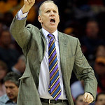 Philadelphia 76ers head coach Doug Collins reacts in the third quarter in an NBA basketball game against the Cleveland Cavaliers, Sunday, Feb. 27, 2011, in Cleveland. The 76ers won 95-91. (A ...