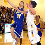 12-30-09 linda murphy</p> <p>Clearview's #11 Colin Watson shoots past Avon's #33 Matt Trnian.