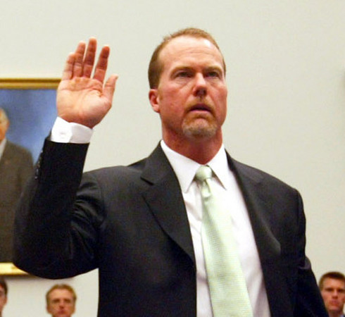 Mark Mcgwire Before And After Steroids. player Mark McGwire being