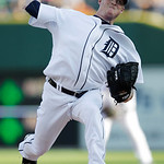 Detroit Tigers pitcher Jeremy Bonderman throws against the Cleveland Indians in the first inning of a baseball game in Detroit Tuesday, June 1, 2010. (AP Photo/Paul Sancya)