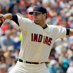 Cleveland Indians starting pitcher David Huff throws against the Washington Nationals during the fifth inning of a baseball game in Cleveland on Sunday, June 13, 2010. (AP Photo/Amy Sancetta ...