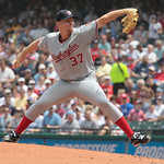 Washington Nationals starting pitcher Stephen Strasburg throws during the first inning against the Cleveland Indians in a baseball game in Cleveland on Sunday, June 13, 2010. (AP Photo/Amy S ...