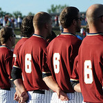 "Crushers players wore the Lebron James number 6 for ""Keep LBJ in Cleveland"" night at All Pro Freight Stadium"" in Avon June 30.  Steve Manheim"