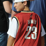 Tyler Knight, 12, of Sheffield Lake, wears a LeBron jersey at the Keep LBJ in Cleveland night at All Pro Freight Stadium June 30.  Steve Manheim