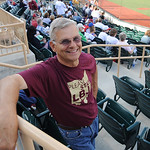 "Leonard Jungbluth of Sheffield wore a Stay LBJ shirt at the ""Keep LeBron night"" at All Pro Freight Stadium June 30.  Steve Manheim"