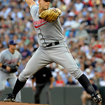 Cleveland Indians pitcher Justin Masterson works against the Minnesota Twins in the  first inning of a baseball game Tuesday, July 20, 2010 in Minneapolis. (AP Photo/Jim Mone)
