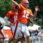 Browns qb Colt McCoy at trainng camp Aug. 5.  Steve Manheim
