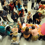 People walk in line to try non-alcoholic drinks at the 11th annual Zero-Proof Mix-Off at LCCC on Dec. 6. Steve Manheim