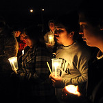 A candlelight vigil for Andrew 'A.J.' Vincent at Elyria Catholic High School Nov. 27.   Steve Manheim