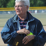 Bob Daniels got an award at the All Star softball game June 5.  Steve Manheim