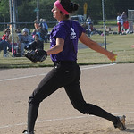 Kenzie Conrad of Keystone pitches in the Lorain County All Star softball game June 5.  Steve Manheim