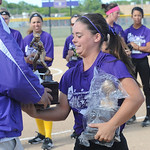 Erin Pond of Keystone wins Miss Softball award and Div. II player of the Year at Lorain County All Star softball game on June 5.  Steve Manheim