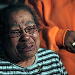 Inez Fortson, the mother of Telacia Fortson, the second victim identified from Anthony Sowell's home, cries as she talks to the media Thursday, Nov. 5, 2009 in East Cleveland. (AP Photo/The  …