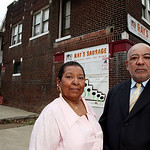 In this Nov. 24, 2009 photo, Renee Cash and her brother Raymond Cash Jr. stand in front of Ray's Sausage Co., the meat processing factory founded by their father Ray Cash, in Cleveland. The  …