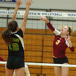 Avon Lake Lauren Bakaitis hits past Amherst Kristy Koller in sectional final Oct. 27. Steve Manheim