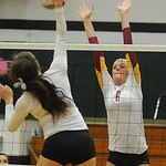 Avon Lake 6 Katie Mihalik defends against EC Catherine O'Shaughnessy Oct. 3.  Steve Manheim