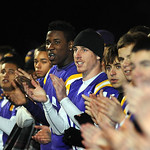 Avon players applaud at a pep rally the night before the Eagles' first-ever state title game at Avon Stadium Dec. 1. Steve Manheim
