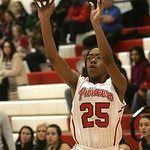 18JAN12  N. Ridgeville girls travel to Elyria High School.  Lady Pioneer #25 is Jocelyn Spraggins.     photo by Chuck Humel