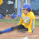 Clearview Katelyn Jones scores on a passed ball in first inning Apr. 16.  Steve Manheim