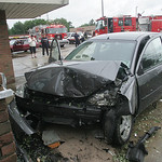 Car into Wolfey's Pub, E. Broad St, Elyria.    photo  by Chuck Humel