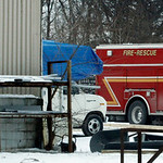 01/04/2012 Fire Rescue truck at Black River Industries. Elyria, Ohio.  Photo by Tom Mahl