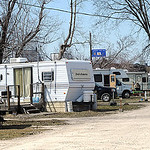 Crystal Springs Campground in North Ridgeville on Apr. 3. Residents must vacate by Friday at midnight. Steve Manheim