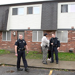 9nov11bishop— Elyria Police officers entered an apartment in Wilkes Villa where the primary suspect in a shooting was found hiding in an upstairs bedroom. The shooting stretched across a c …
