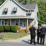 Elyria police and Lorain County Sheriff on scene at 619 W. River Rd. N. where a man was shot on Jul 15.   Steve Manheim