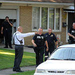 Elyria police and Special Response Team members leave a home after a stabbing on Longfellow St. Jul 15.  Steve Manheim