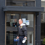 A Lorain police detective enters Lorain National Bank on Pearl Ave. after a bank robbery on Oct. 2.  Steve Manheim