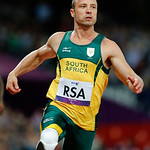 FILE – In this Wednesday, Sept. 5, 2012 file photo, South Africa's Oscar Pistorius wins the Men's 4 x 100 Relay T42-46 final at the 2012 Paralympics in London. Pistorius has been arrested af …