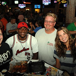 Devin Sheets, left, of Ziggy's, Gabriel Jones, of Amherst,  and Don, Savannah and Michelle Sheets, of Lorain, all visited with President Obama in Ziggy's on July 5.  Steve Manheim