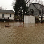 Flooding on Riverside Drive in Vermilion.