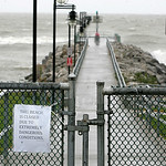 Authorities closed the fishing pier and beach at Miller Road Park in Avon Lake.