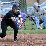 Brunswick's Alllison MacIvor bunts in the second inning Apr. 11.   Steve Manheim
