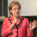 Marcy Kaptur and Samuel Wurzelbacher debated at the CHIP Debate at St. Joe's Community Center.
