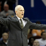 Toronto Raptors coach Jay Triano reacts during the second quarter in an NBA basketball game against the Cleveland Cavaliers on Wednesday, Jan. 5, 2011, in Cleveland. The Raptors won 120-105. &#8230;