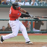 Crushers Wally Correa hits an RBI double in second inning Aug. 16.  Steve Manheim