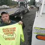 Dave Vaughn of D &amp; A Towing and Vaughn&#039;s Towing is on a crusade to have motorists give more leeway or slow down for emergency vehicles  including tow trucks  by the side of the road. &quot; &#8230;