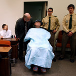John Demjanjuk  arrives at the court room for his trial in Munich, southern Germany, on Monday, Nov. 30, 2009. Demjanjuk goes on trial on charges of being an accessory to the murder of 27.90 …