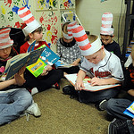 Kindergarden students at McKinley Elementary read Dr. Suess books on March 2.  Kindergarden through second graders wore hats and read books to celebrate Dr. Suess' 107th birthday.  Steve Man …