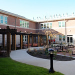 The courtyard at the new Elyria High Oct. 22.  Steve Manheim