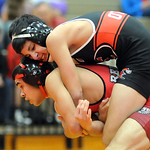 Elyria Nico O'Dor defeats Parma Anthony Ramos in 113 wt class semifinal Jan. 30.  Steve Manheim