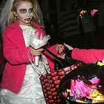 Zombie Bride Dani German, 8, of Amherst proves zombies will eat something more than flesh.