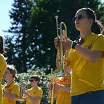 The Avon High School marching band marches with duck tape accessories in the Duck Tape Parade. KRISTIN BAUER | CHRONICLE