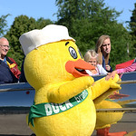 Those aboard the old Euclid Beach Rocket Car had the oppertunity to meet the Duck Tape duck. KRISTIN BAUER | CHRONICLE