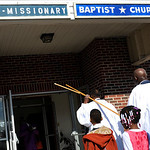 Shiloh Baptist Church participated in their first Crusade March on Sunday. KRISTIN BAUER/CHRONICLE